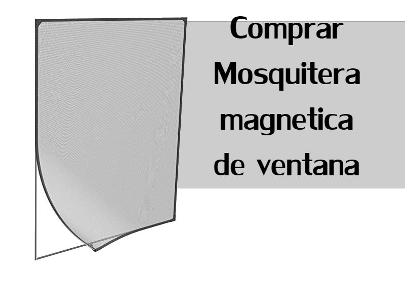 WISKEO Mosquitera Ventana Rollo Magn/ética para Ventanas Batientes con Cierre Magn/éTico Cortina Sin Punz/óN Marr/ón 90x100 CM WxH Cualquier Tama/ño Pantalla contra Insectos